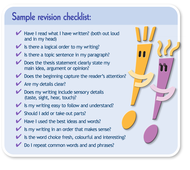 literary essay editing checklist